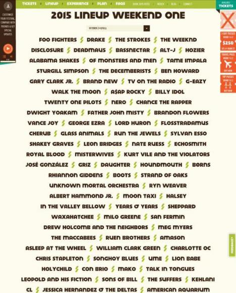 Austin City Limits Festival Weekend 1 - Saturday at Zilker Park