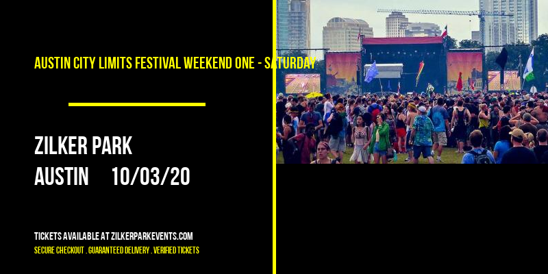 Austin City Limits Festival Weekend One - Saturday at Zilker Park