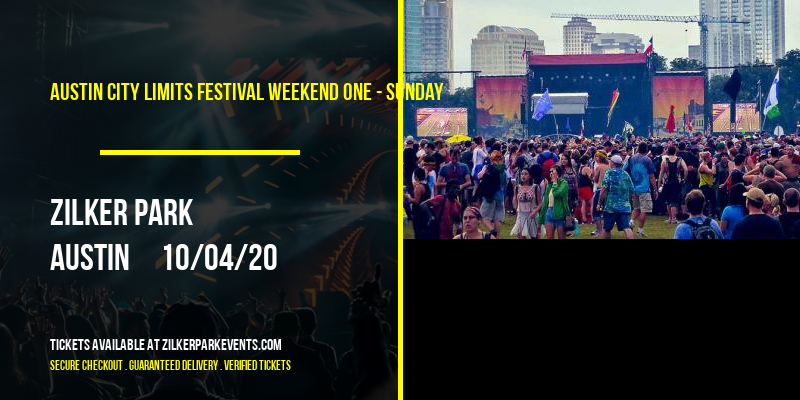 Austin City Limits Festival Weekend One - Sunday at Zilker Park