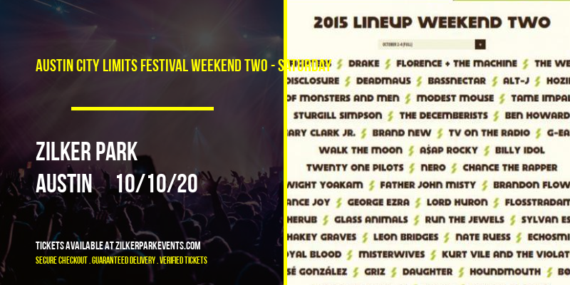 Austin City Limits Festival Weekend Two - Saturday at Zilker Park