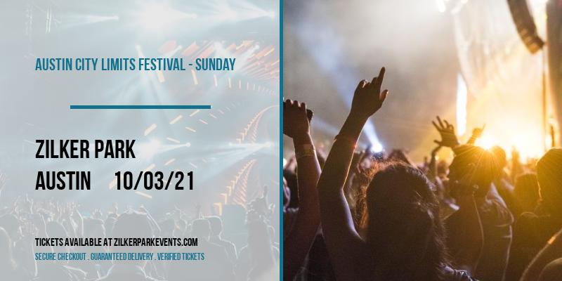 Austin City Limits Festival - Sunday at Zilker Park