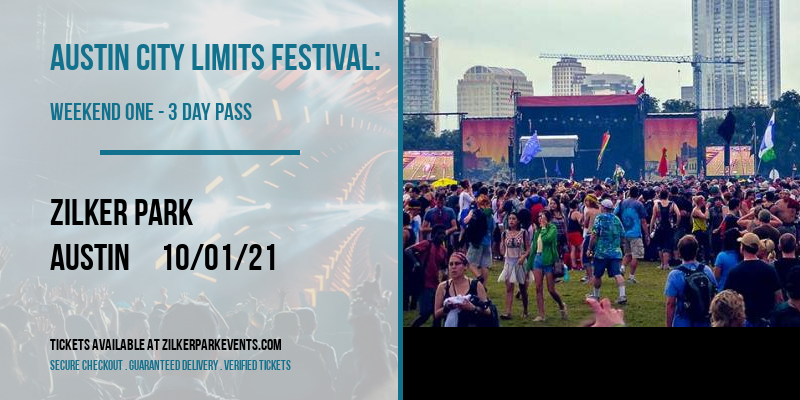 Austin City Limits Festival: Weekend One - 3 Day Pass at Zilker Park